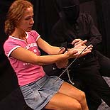 Bound and abused3  a fiery redhead is shown her place with ropes and clamps by her master. A fiery redhead is shown her place with ropes and clamps by her master