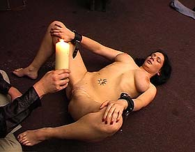 Extreme busty pain  busty beauty is subjected to painful bdsm  punishment. Busty Beauty is subjected to painful bdsm  punishment