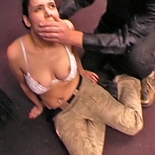 Back to taming room  babe with soft round boobs gets tied up and abused. Babe with soft round breasts gets tied up and abused