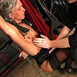 Inhuman sub domination. Cringing captive gets harshly lashed and a pounding from every angle