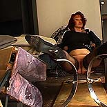 Tubby plumper degraded  auburnhaired fatty suffers tormented at the hands of a violent mistress. Auburn-haired fatty suffers torture at the hands of a hard mistress