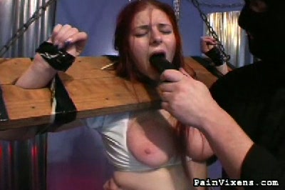 Abused schoolgirl  bondage slut alice gets her tits abused and her cunt dildofucked. Bondage slut Alice gets her natural tits abused and her vagina dildo-fucked