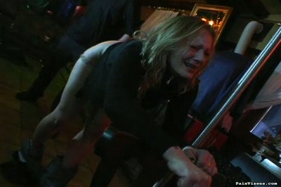 Dominant whip punishment  trashy blond skank gets her butthole punish with the whip. Trashy blond skank gets her butt punished with the whip
